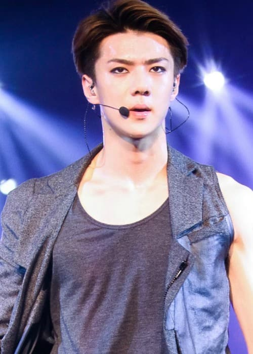 Oh Se-hun performing in Singapore in August 2014