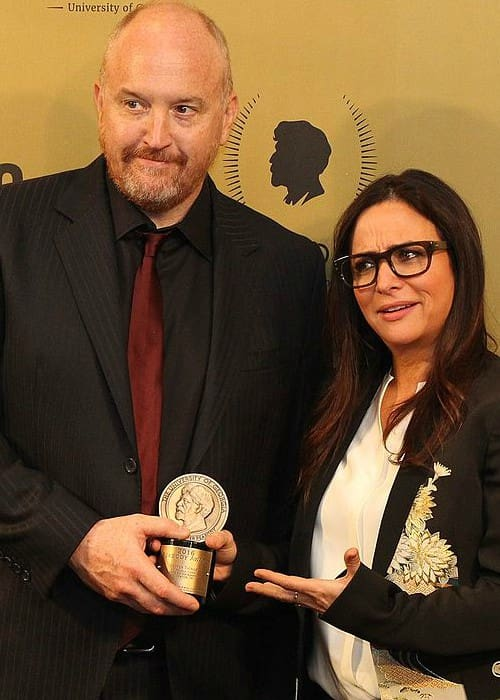 Pamela Adlon and Louis CK at the 76th Annual Peabody Awards Ceremony in May 2017