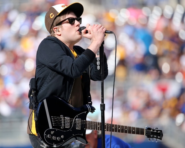 Patrick Stump clicked while performing to open the 2016 T-Mobile #HRDerby in July 2016