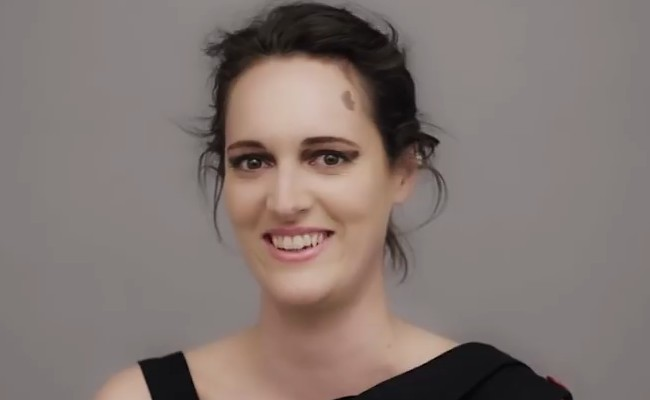 Phoebe Waller-Bridge in a still from an interview in April 2018