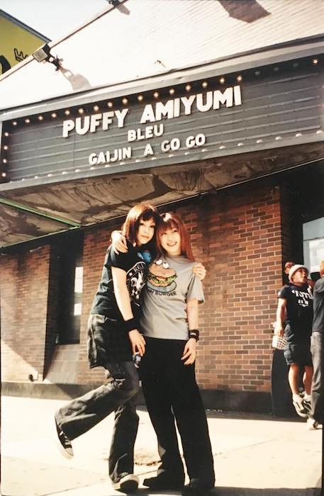 Puffy Ami Yumi band members, Ami and Yumi in an old picture