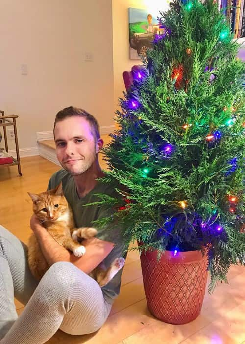 Ryland Adams in an Instagram post with his cat as seen in November 2017