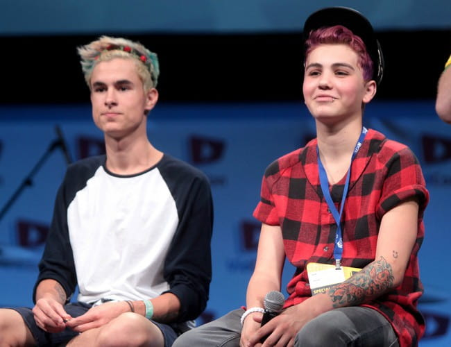 Sam Pottorff (Right) and Kian Lawley at the 2014 VidCon
