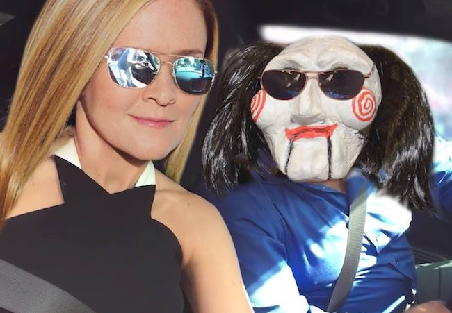 Samantha Bee with Jigsaw pictured in June 2017