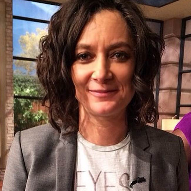 Sara Gilbert inside a studio in March 2015