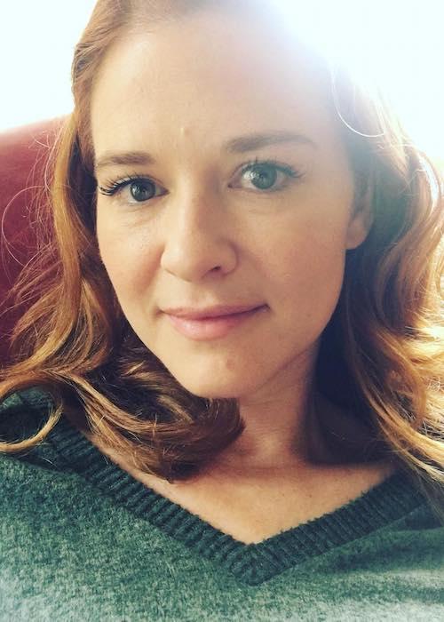 Sarah Drew morning selfie in May 2018