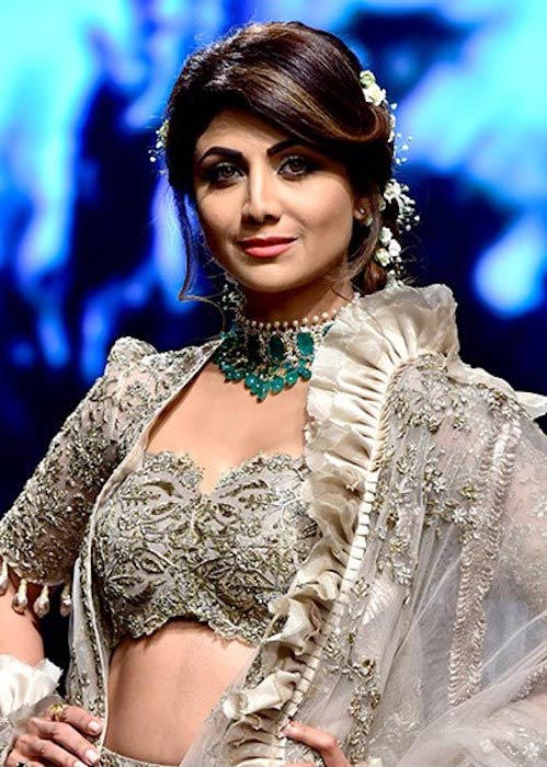 Shilpa Shetty during a ramp walk at the Lakme Fashion Week 2018