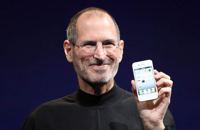 Steve Jobs revealing iPhone 4 at the 2010 Worldwide Developers Conference