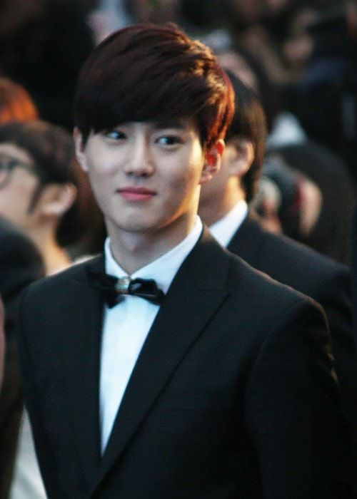 Suho as seen in March 2014