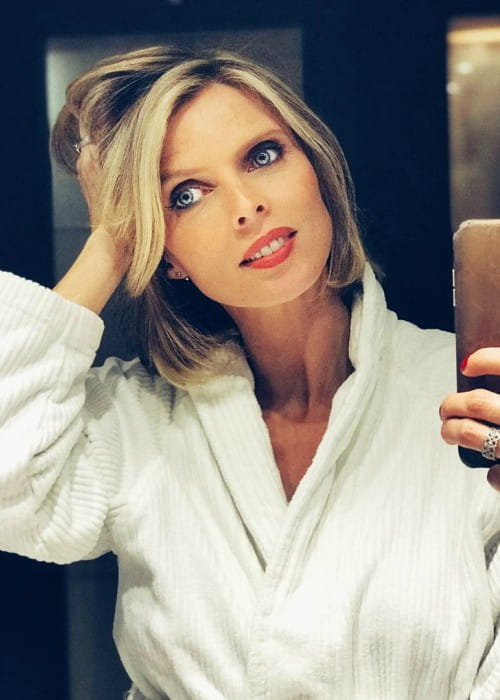 Sylvie Tellier in a selfie in March 2018