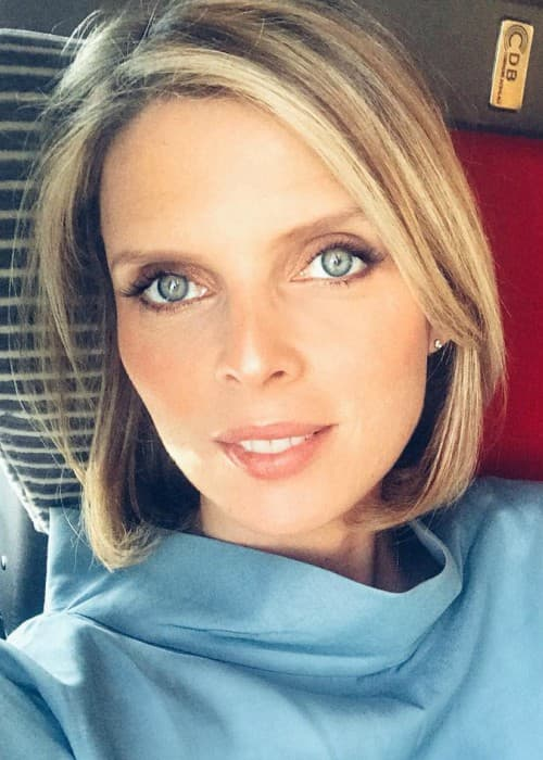 Sylvie Tellier in an Instagram selfie as seen in April 2018