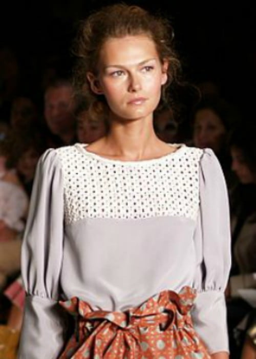 Tatyana Usova modeling at the Cynthia Rowley spring 2007 show