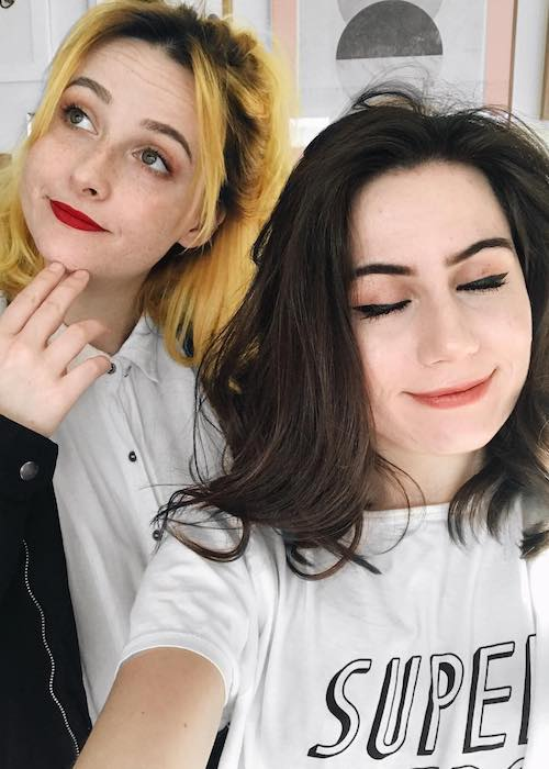 Tessa Violet and Dodie Clark as seen in December 2017