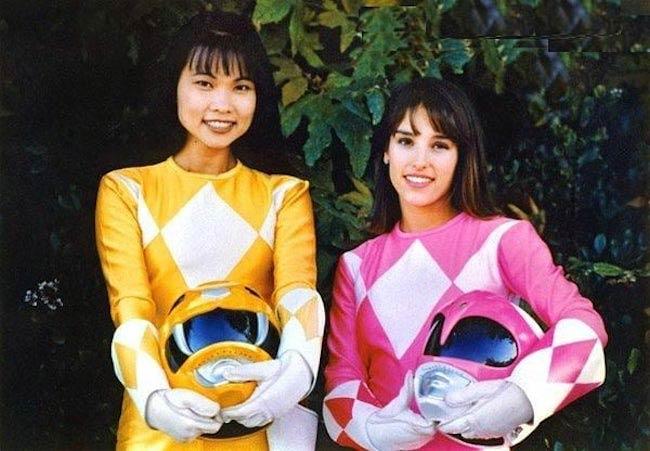 Thuy Trang and Amy Jo Johnson (Right)