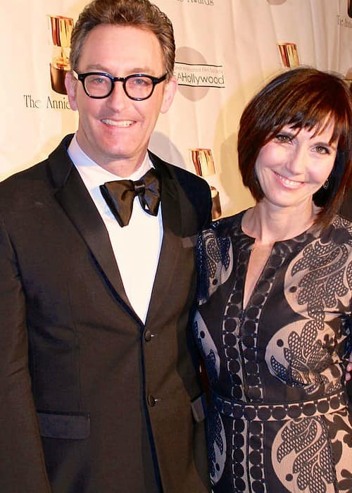 Tom Kenny and Jill Talley at the 41st Annual Annie Awards in February 2014