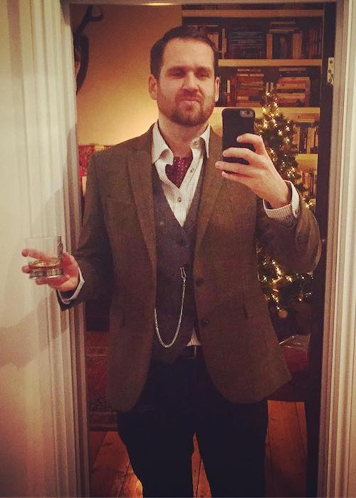 Will Farquarson in an Instagram selfie on Christmas 2017 occasion