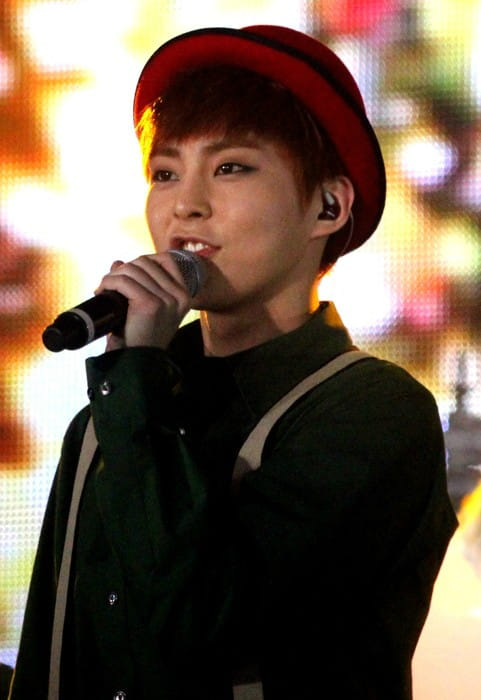 Xiumin at the SMTown Week in December 2013