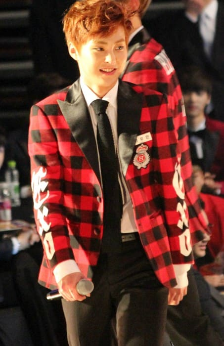 Xiumin at the Seoul Music Awards in January 2014