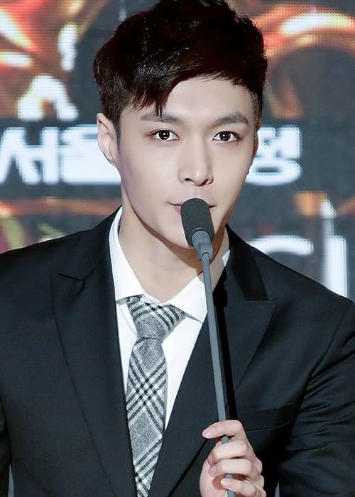 Yixing Zhang at Seoul Music Awards in January 2015