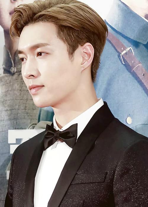 Yixing Zhang at the press conference of The Founding of an Army in July 2017