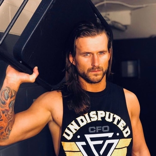 Adam Cole in a picture justifying his fierceness inside the ring in January 2018