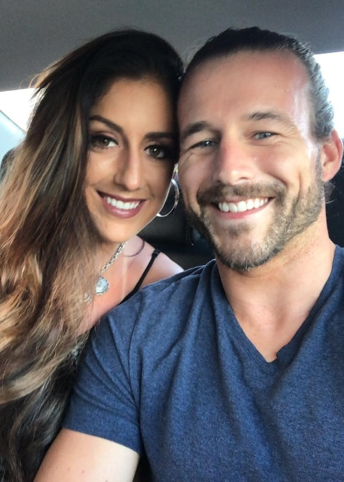 Adam Cole with Brit Baker in an Instagram selfie in July 2018