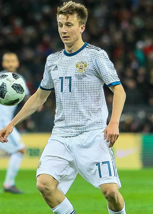 Aleksandr Golovin during a match in March 2018