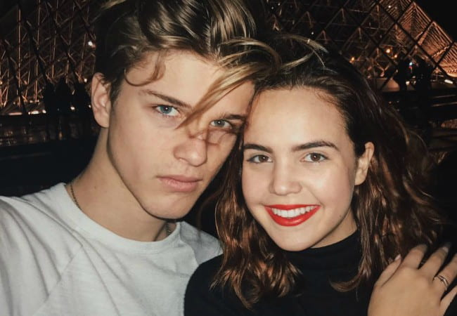 Alex Lange and Bailee Madison as seen in January 2018