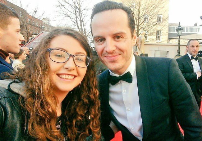 Andrew Scott and Kelly O'Brien in a selfie as seen in April 2016