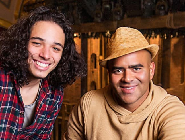 Anthony Ramos (Left) and Christopher Jackson as seen in November 2017