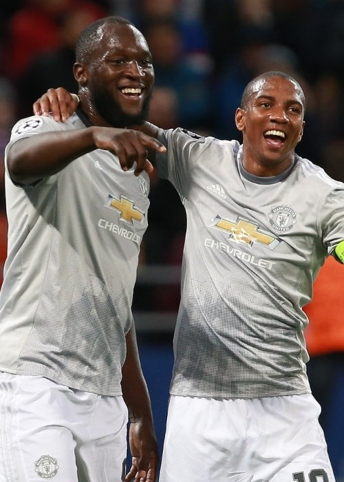 Ashley Young (Right) with Romelu Lukaku in September 2017