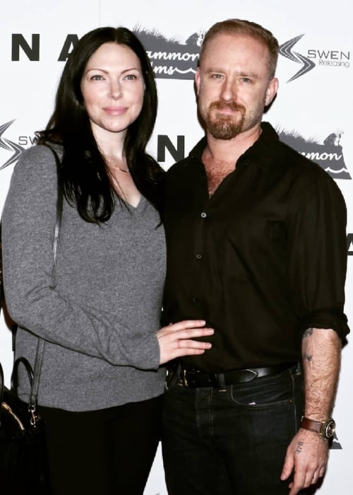 Ben Foster with Laura Prepon as seen in 2018