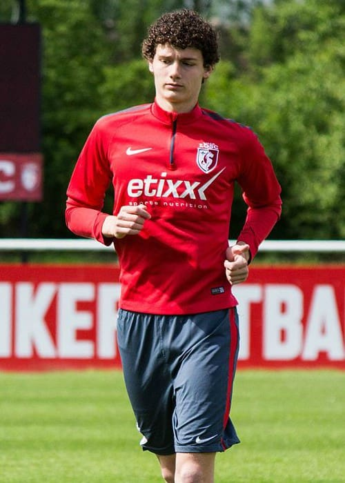 Benjamin Pavard in training with Lille OSC in May 2015