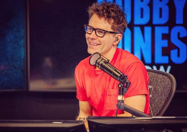 Bobby Bones during his radio show in 2019