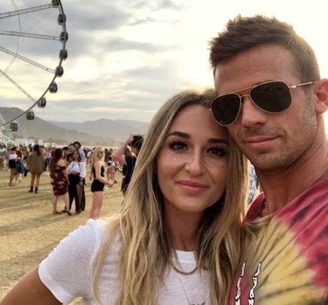 Cam Gigandet with Dominique Geisendorff at Coachella in May 2018