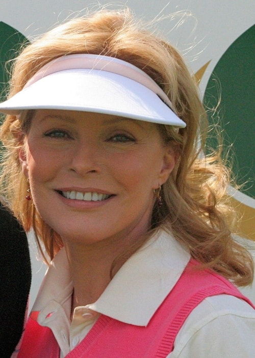 Cheryl Ladd during her visit to the Royal Dornoch Golf Club in July 2007