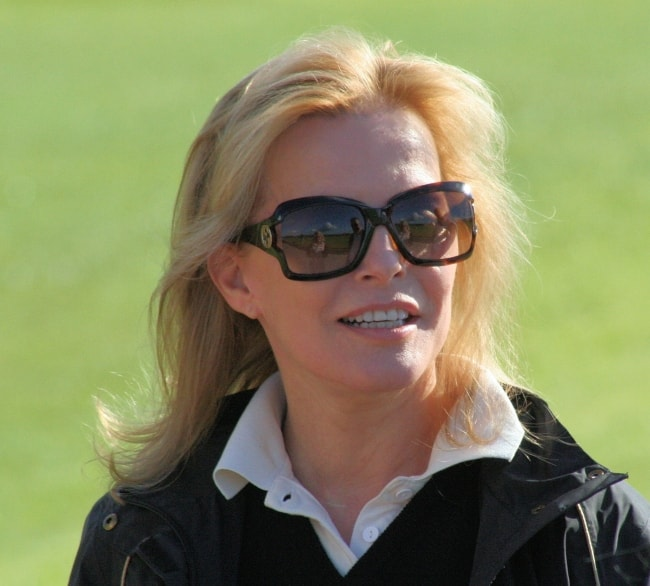 Cheryl Ladd while filming a promotional video for VisitScotland in July 2007