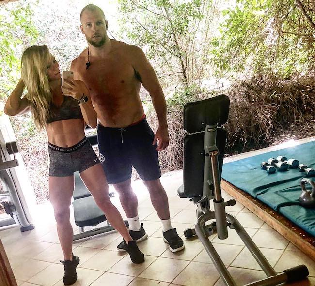Chloe Madeley with her boyfriend James Haskell at Resort Valle dell'Erica Thalasso & SPA 5 stelle in Sardegna in June 2018