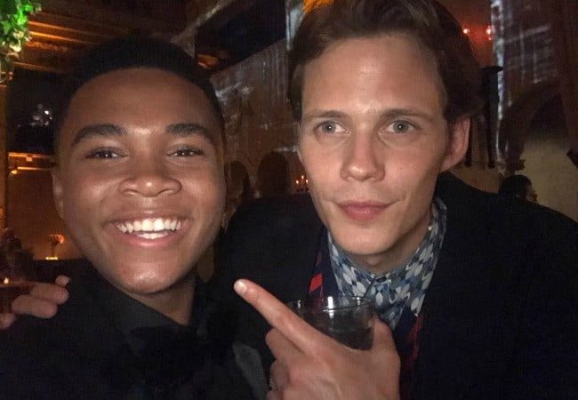 Chosen Jacobs (Left) and Bill Skarsgård in a selfie in September 2017