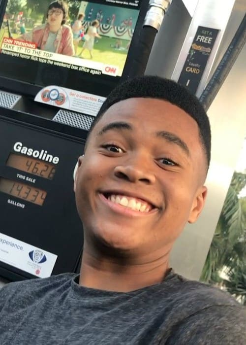Chosen Jacobs in an Instagram selfie as seen in September 2017