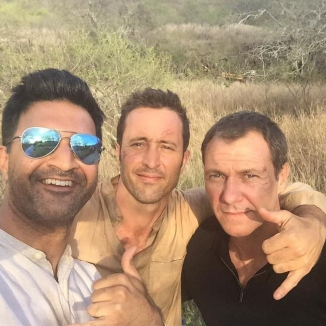Chris Vance (Right) with Alex O'Loughlin and Vishesh Chachra (Left)