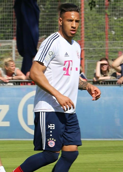 Corentin Tolisso while training on the grounds of FC Bayern Munich in May 2018