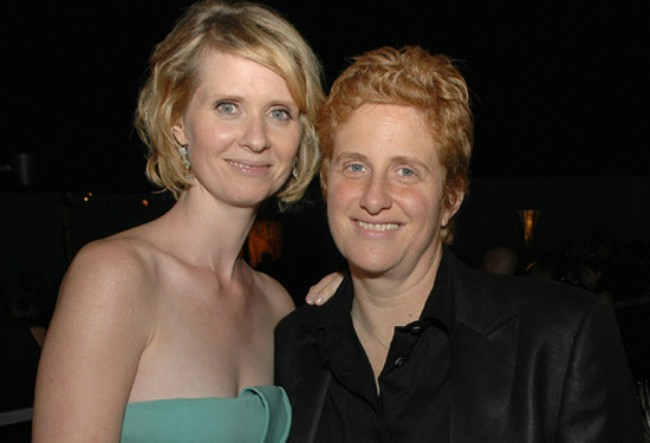 Cynthia Nixon and Christine Marinoni as seen in June 2012