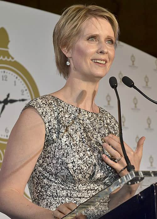 Cynthia Nixon at Grand Central Terminal's official 100-year anniversary celebration in February 2013