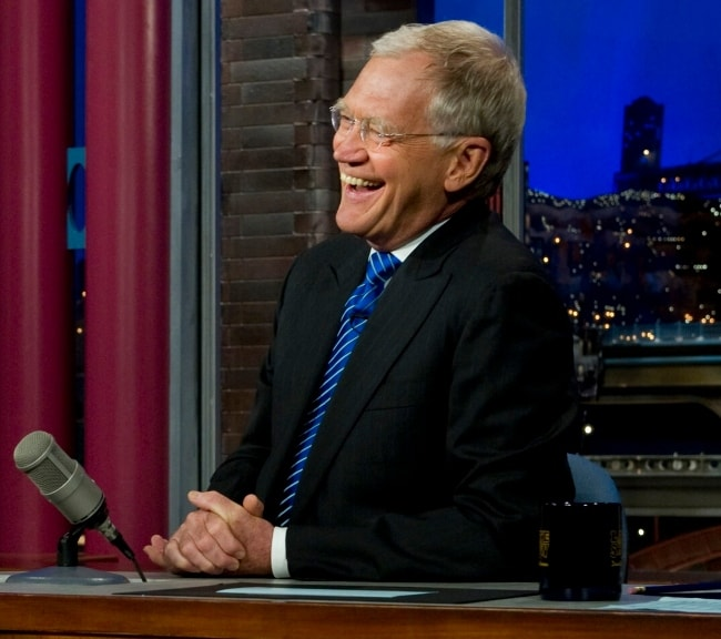 David Letterman in June 2011 during an interview on the Late Show in New York City
