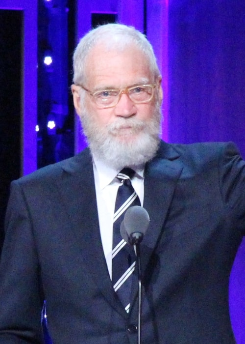 David Letterman receiving his Individual Peabody Award in May 2016