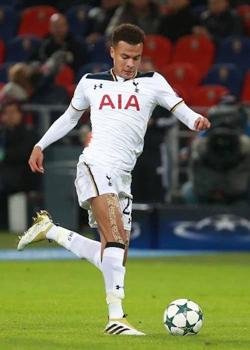 Dele Alli in action during a match between CSKA Moscow and Tottenham in September 2016