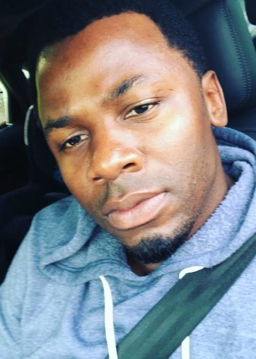 Derek Luke in a selfie in May 2018
