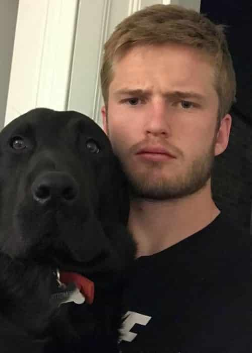 Eric Dier in a selfie with his dog in May 2017