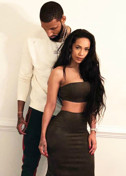 Erica Mena and Cliff Dixon as seen in February 2018